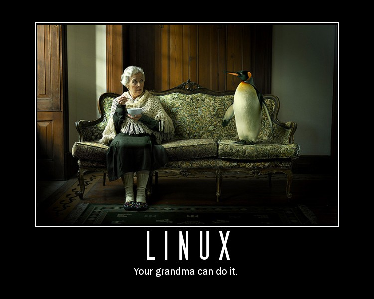 Linux, Your grandma can do it