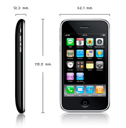 Iphone - Les dimensions