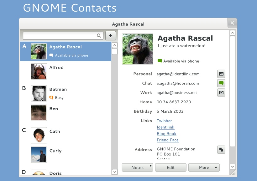 Gnome Contacts