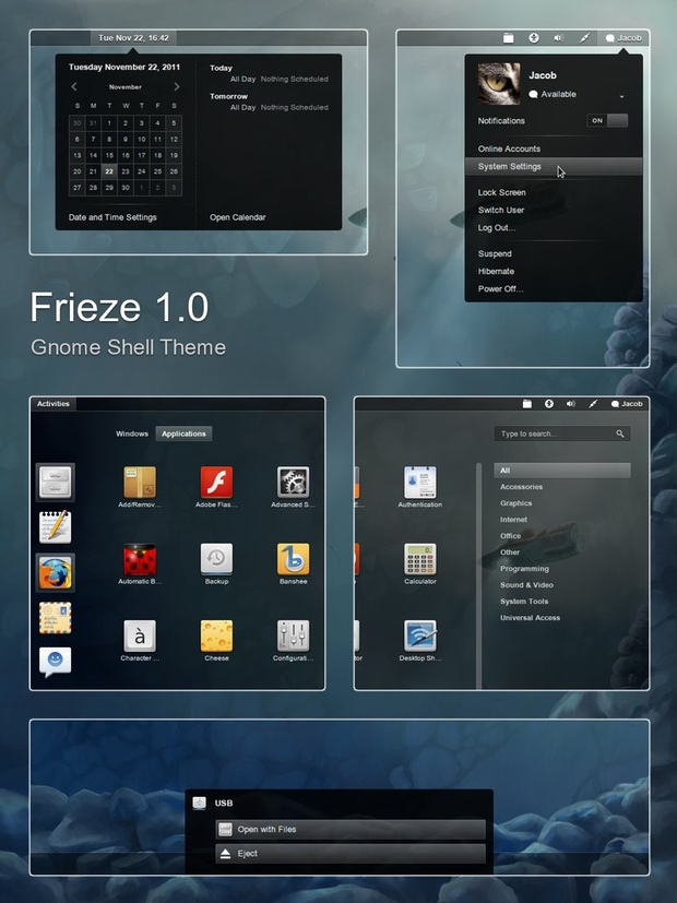Gnome Shell Frieze
