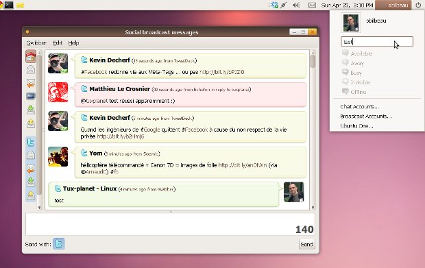 Ubuntu 10.04 - La zone de notification