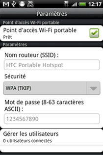Tethering avec Android