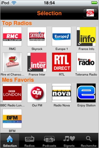 iPhone - Application Live Radio