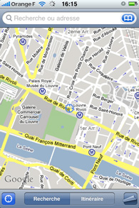 Iphone - Application Google map