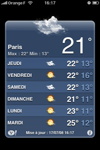 Iphone - Application météo