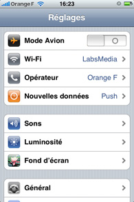 Iphone - Application d'agenda