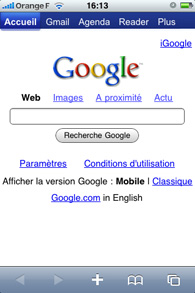 Iphone - Application Safari
