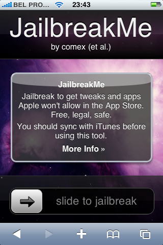 Jailbreak d'un iPhone avec JailbreakMe
