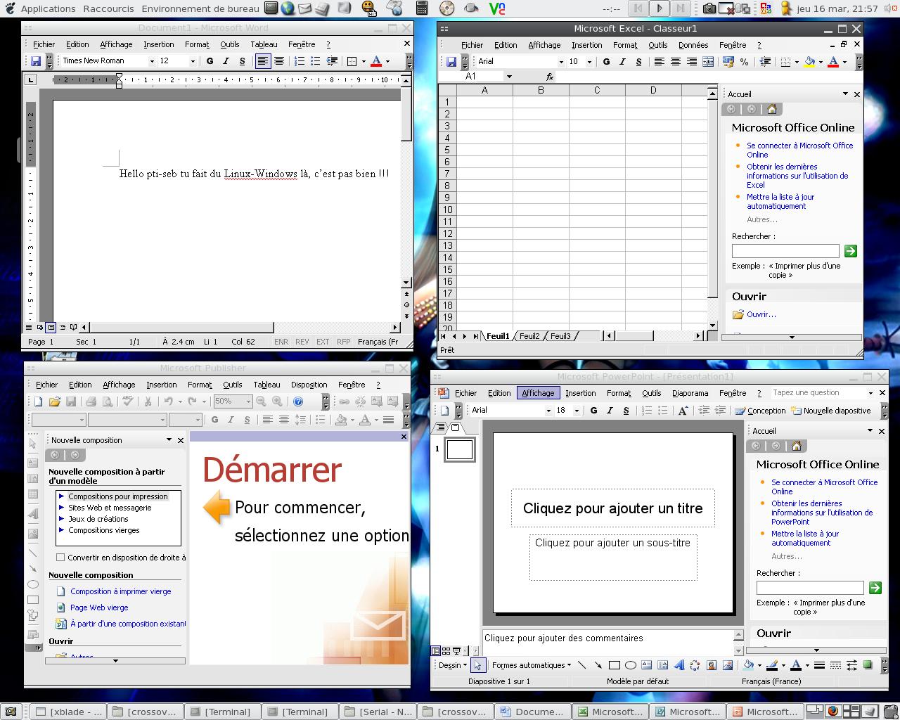 crossover   du windows avec du linux