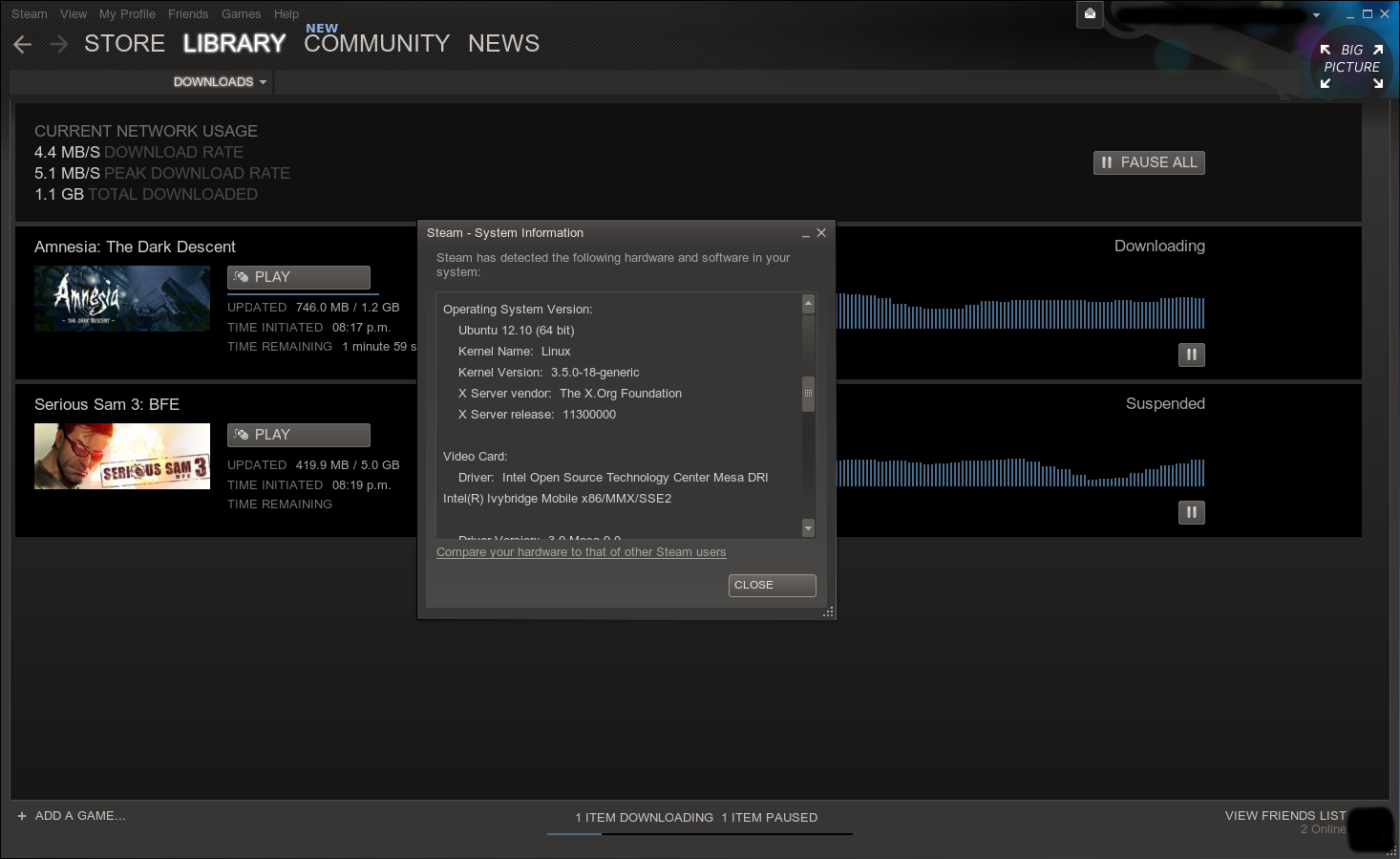 Steam pour Linux version Beta