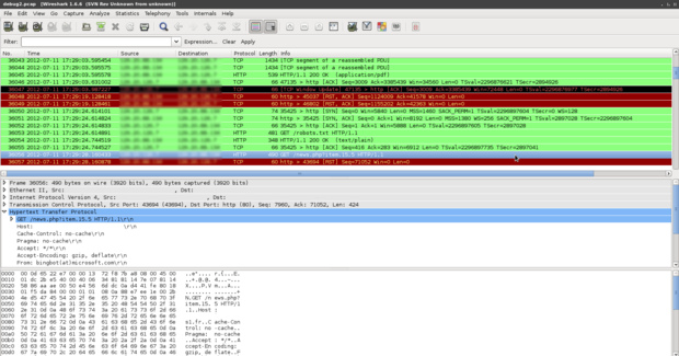 Analyse de trafic avec Wireshark