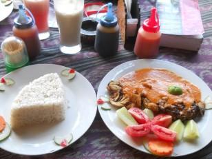 Un plat typique de Lombok