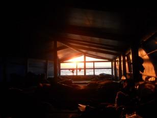Le dortoir du bateau