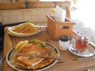 Gili Air : Dernier petit-déjeuner dans un beruga de l'hôtel
