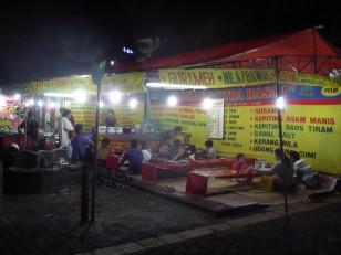 Jogjakarta : Un restaurant de rue, typique de la ville