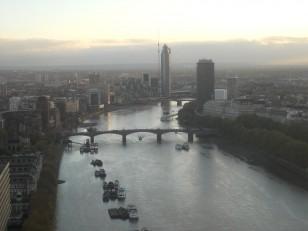 La vue depuis le London Eye