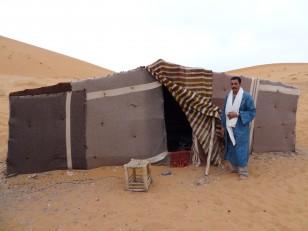 Notre tente berbère avec notre sympathique guide Saïd