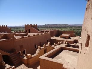Ouarzazate : La vue depuis la kasbah de Taourirt