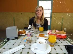 Marrakech : Petit-déjeuner à l'hôtel Toulousain