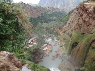 Ouzoud : Les cascades vues d'en haut