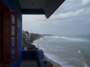 Mahabalipuram : La vue depuis l'hôtel Santana