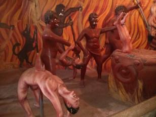 Dikwella : Où sont représentés des démons en train de punir des pêcheurs !