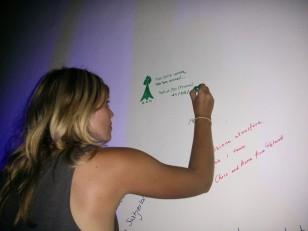 Tangalla : Notre dédicace sur le mur du Siesta Restaurant