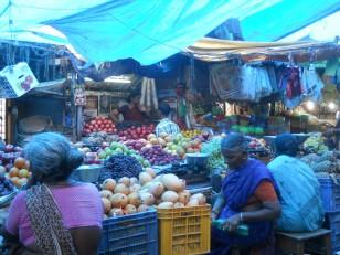 Pondichéry : Le Market, un marché indien typique…
