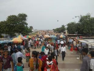 Chennai : La Marina Beach, avec ses boutiques de fortune...