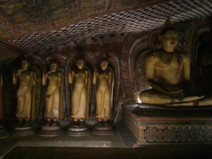 Dambulla : L'intérieur des grottes