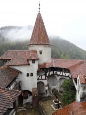 Bran: La vue sur la cour intérieure du château