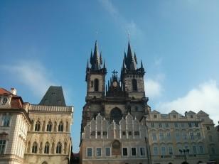 Prague: L'église Notre-Dame de Týn