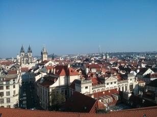 Prague: La vue depuis la tour astronomique du Clementinum. On peut y voir le centre historique…