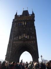 Prague: L'entrée du pont Charles