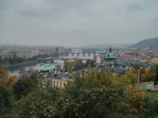 Prague: La vue depuis le parc Letná
