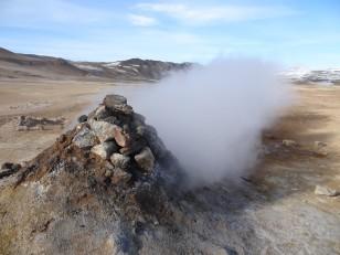 Le Nord de l'Islande : Le site géothermique de Hverir et ses fumerolles