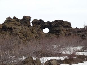 Le Nord de l'Islande : L'arche basaltique de Gatklettur