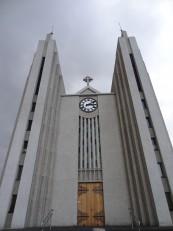 Le Nord de l'Islande : L'église d'Akureyri