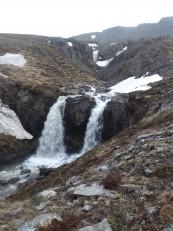 Le Nord de l'Islande : Les cascades au-dessus de la ferme auberge Solvanes