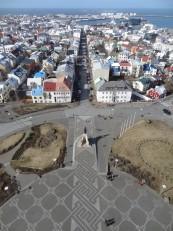Reykjavik : La vue depuis le clocher