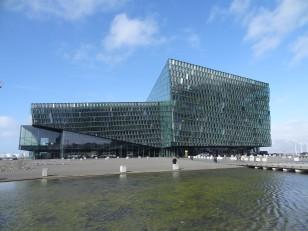 Reykjavik : La salle des congrès et de concerts nommée Harpa