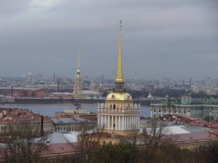 Saint-Pétersbourg: La vue depuis la cathédrale Saint-Isaac