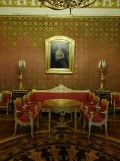 Saint-Pétersbourg: Le salon rouge du palais Youssoupov