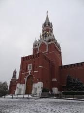 Moscou: La tour Spasskaya du Kremlin