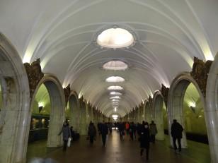 Moscou: Une station de métro moscovite