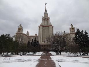 Moscou: L'université d'État Lomonossov